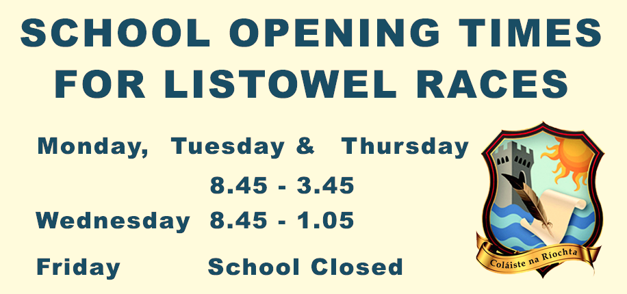 OPENING TIMES FOR LISTOWEL RACES