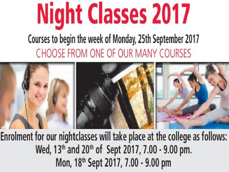 Night Classes Brochure & Enrolment Details