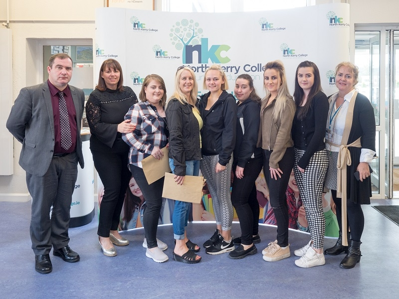 Hairdressing Year 1 and Year 2 Students collecting their Dept of Education &  Skills Certificates in Junior and Senor Trades.