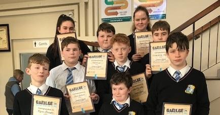 Conradh na Gaeilge Certificates for Gaeilge 24 Challenge