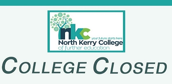 College Closed Monday 15th October 2018