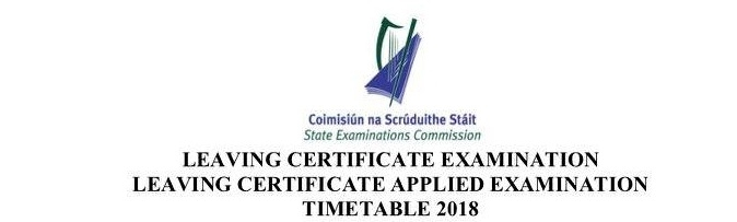 Junior and Leaving Certificate Exam Timetables