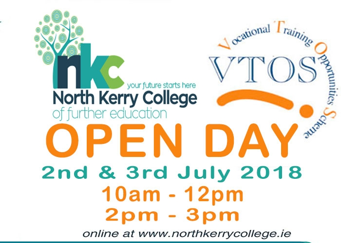 OPEN DAY MONDAY 2ND and TUESDAY 3RD JULY 2018