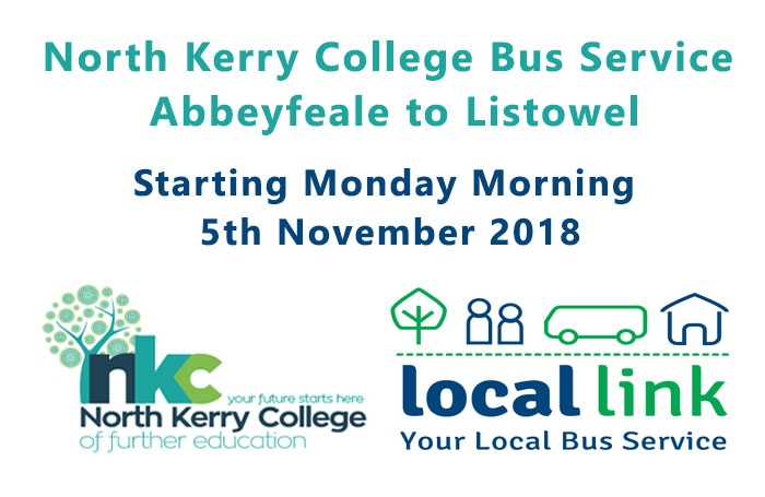 LOCAL LINK Abbeyfeale/Duagh to North Kerry College Bus Route