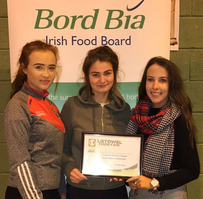 Winners at the Bord Bia schools competition