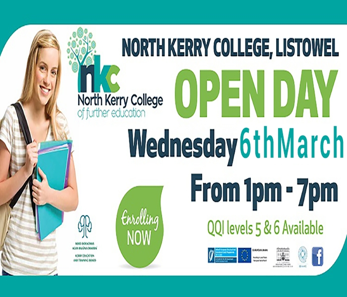 NORTH KERRY COLLEGE OPEN DAY - 6th MARCH