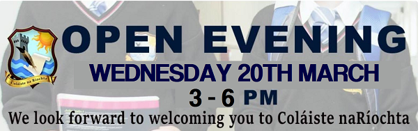 OPEN EVENING WEDNESDAY 20TH MARCH 3-6PM