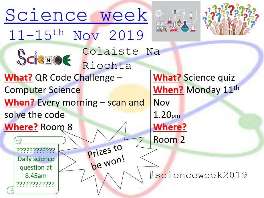 Science Week 11th - 15th November