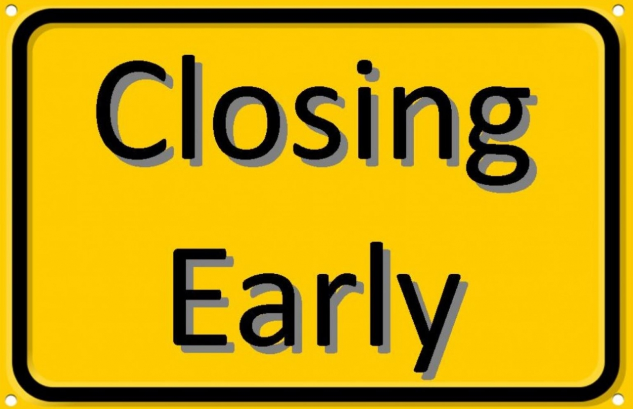 school closing at 2.45pm on Thursday 21st November