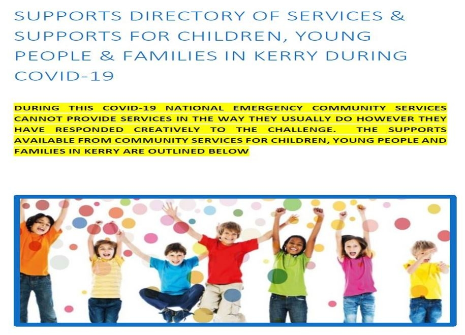 Supports Directory of Services Available for Children, Young People & Families During Covid-19