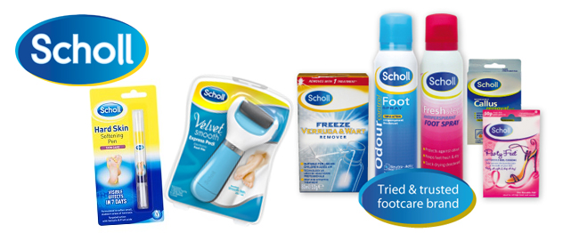 scholl footcare products